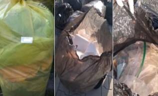 Nieprawidłowo zapakowane śmieci w Mucharzu
