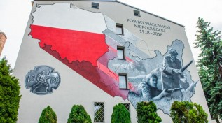 Mural na stulecie Niepodległości w Wadowicach