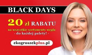 Nie przegap takiej okazji!... BLACK DAYS w e-sklepie ekogroszekplus.pl!