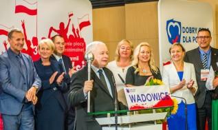 Jarosław Kaczyński w Wadowicach