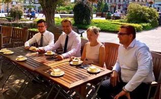 W Wadowicach kandydaci Rafał Bochenek, Filip Kaczyński, Grażyna Trojanowska i Roman Duda prowadzili kampanię