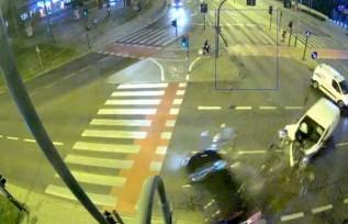 Wypadek na skrzyżowaniu w Krakowie