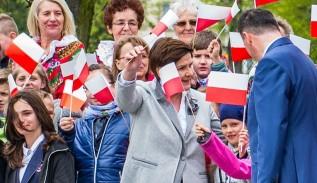 Premier Beata Szydło na uroczystości w Spytkowicach