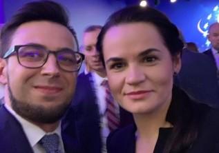Filip Kaczyński i Swiatłana Cichanouska
