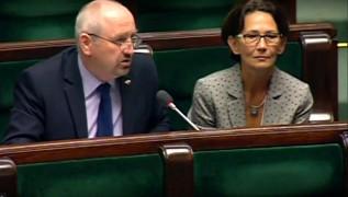 Posłowie Marek Polak i Ewa Filipiak