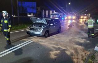Poważna stłuczka na skrzyżowaniu w Andrychowie. Niecierpliwy sprawca dostał karę
