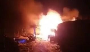 Pożar domku w Rzykach
