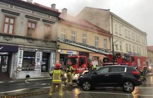 Pożar mieszkania przy pl. Kościuszki w Wadowicach
