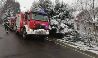 Pożar w  kotłowni w Targanicach. Nikomu nic się nie stało