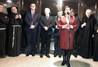 Premier Beata Szydło gościła na corocznym opłatku PiS w Kawarii Zebrzydowskiej