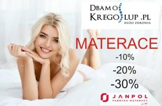 Promocja- tylko do piątku rabat do -30% na materace Janpol od DbamoKregoslup.pl