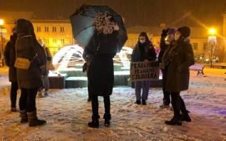 Protest kobiet w Wadowicach. Przyszło tylko siedem osób