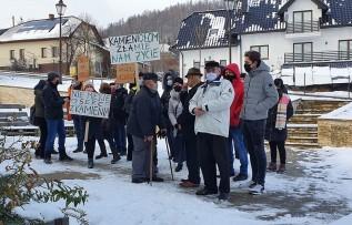 Protest w Lanckoronie