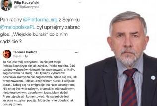 """Radny KO Tadeusz Gadacz po wyborach: """"Polskę urządził nam Kurski i WIEJSKIE BURAKI"""""""