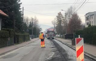 Remont ulicy Grancarskiej w Andrychowie. Utrudnienia mają potrwać jeszcze tydzień