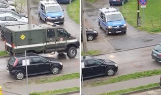 Patrol saperski interweniował przy ulicy Wojtyłów w Wadowicach
