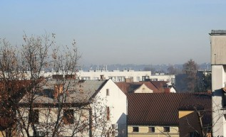 Nad Wadowicami gruba warstwa smogu, 25.11.2020