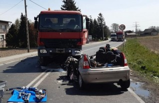 Śmiertelny wypadek w Oświęcimiu. Droga krajowa zablokowana