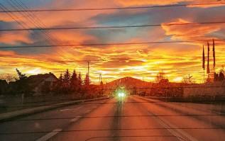 Zachód słońca w obiektywie czytelniczki