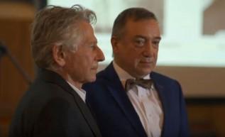 Roman Polański i Stanisław Buchała podczas uroczystości w Warszawie