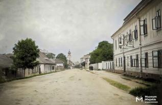 Wjazd do Wadowic od skrzyżowania ulicy Batorego z Mickiewicza