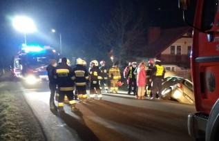 Trzy osoby ranne po wypadku w Stroniu. Auto wypadło z drogi
