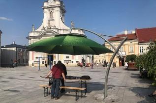 Swoje uwagi można było składać w ogródku konsultacyjnym na rynku w Wadowicach