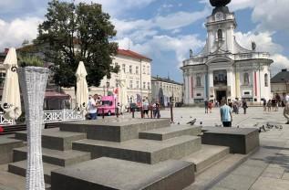 Fontanna na rynku w Wadowicach