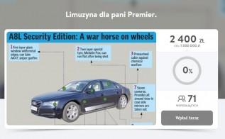 """Wadowiczanin zbiera na nową limuzynę """"dla Pani Premier"""". Co mu strzeliło do głowy?"""