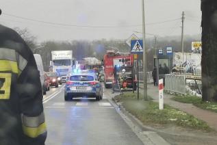Wypadek na krajówce w Inwałdzie. Egipcjanin na rowerze porącony przez samochód