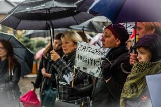 Czarny protest w Wadowicach