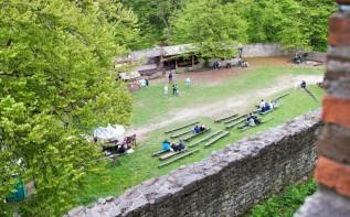 Tak wyglądało podzmacze zamku w Lipowcu kilka lat temu