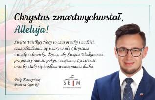 Życzenia wielkanocne od Filipa Kaczyńskiego, Posła na Sejm RP